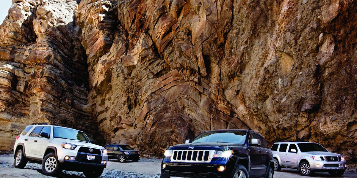 Jeep Grand Cherokee vs. Kia Borrego, Nissan Pathfinder ...