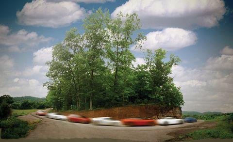 2011 bmw m3, 2011 chevrolet corvette z06, 2010 lotus elise sc, 2010 mazda rx 8, 2011 nissan gt r, 2011 porsche boxster spyder, and 2011 volkswagen gti