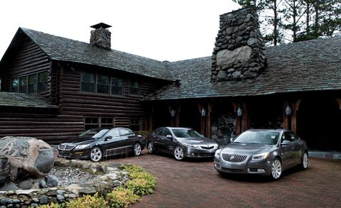 2010 Acura TSX V6 vs  Buick Regal CXL Turbo, VW CC 2 0T R-Line