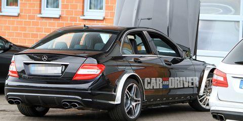C63 Amg Black Series >> 2012 Mercedes Benz C63 Amg Black Series Spied 8211 Car
