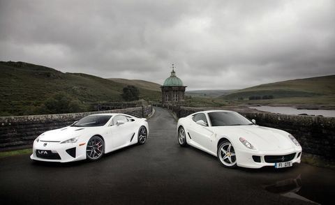 2012 Lexus LFA and 2011 Ferrari 599GTE