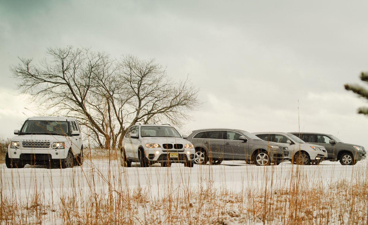 Acura MDX vs  Audi Q7, BMW X5, Land Rover LR4, Lexus GX460