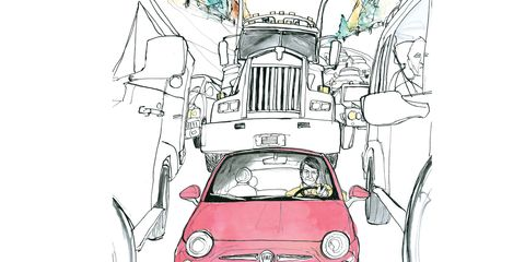 Automotive design, Automotive lighting, Hood, Line, Art, City car, Headlamp, Artwork, Cartoon, Illustration,