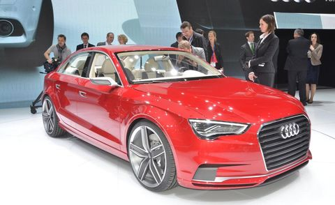 Automotive design, Product, Event, Vehicle, Grille, Car, Red, Audi, Personal luxury car, Alloy wheel,