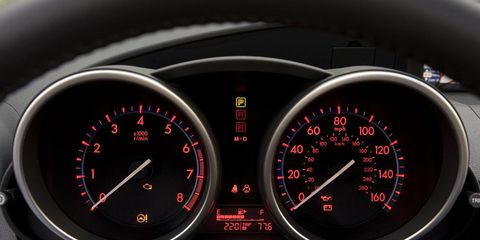 Mode of transport, Speedometer, Red, Tachometer, Gauge, Carmine, Orange, Measuring instrument, Fuel gauge, Trip computer,
