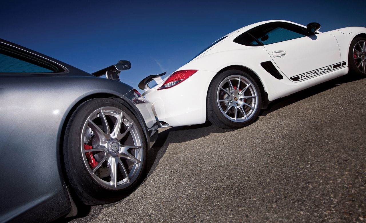 The Mid Vs Rear Engine Debate Porsche Cayman R Vs 911 Gt3