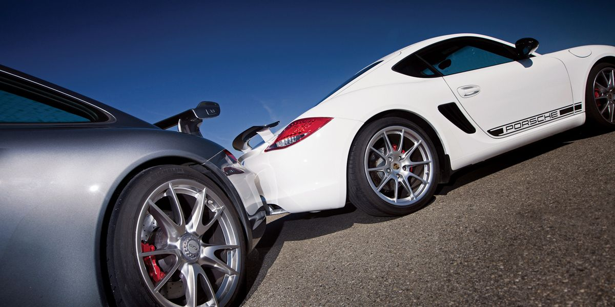 Mid- vs. Rear-Engine Debate: 2012 Porsche Cayman R vs. 911 GT3Car and Driver