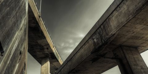 Infrastructure, Bridge, Concrete bridge, Girder bridge, Beam bridge, Overpass, Concrete, Composite material, Beam, Nonbuilding structure,