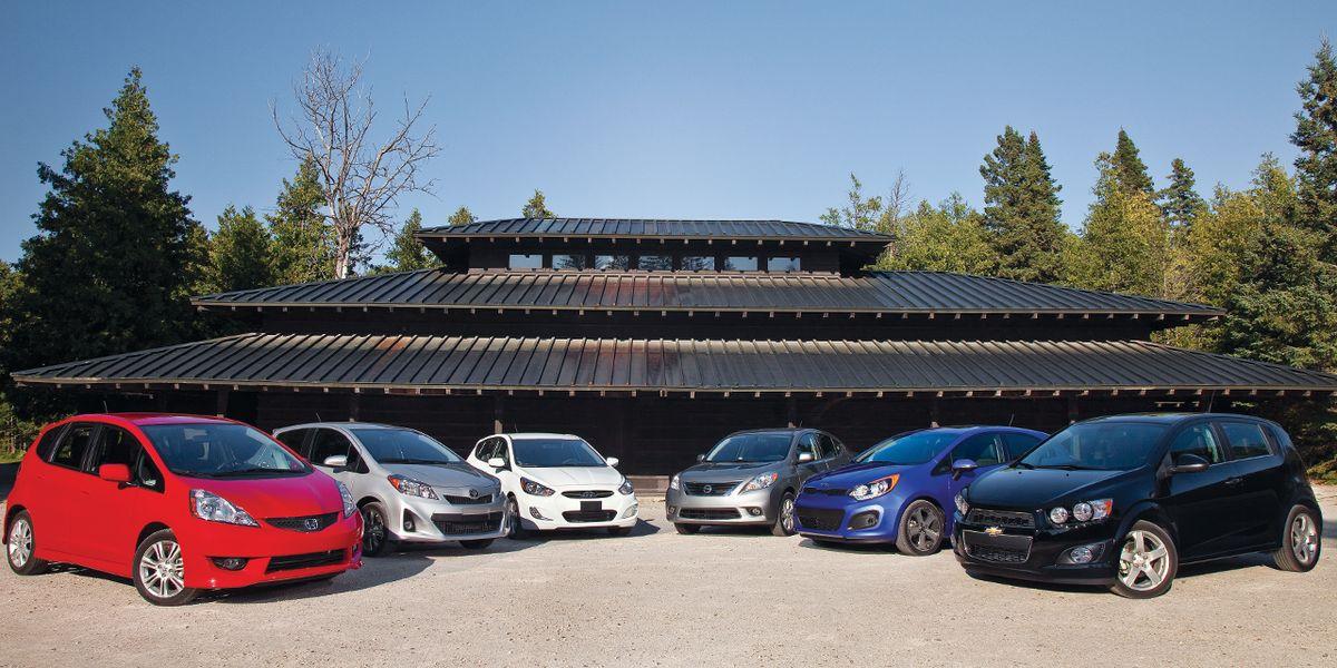 Econocar Comparison 2012 Sonic Honda Fit Vs Four Others