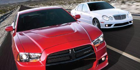 2012 Dodge Charger SRT8 vs  2008 Mercedes-Benz E63 AMG