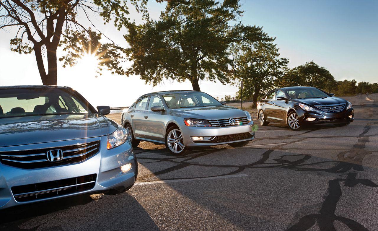 2012 Vw Passat 3 6 Vs 2011 Honda Accord V6 2012 Hyundai Sonata 2 0t