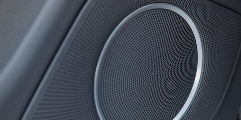 Audio equipment, Product, Electronic device, Technology, Line, Pattern, Output device, Mesh, Font, Black,