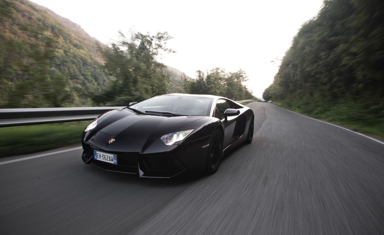 2012 Lamborghini Aventador Lp700 4 Road Test Review Car And Driver