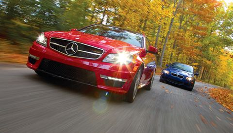 2012 mercedesbenz c63 amg coupe and 2012 bmw m3 coupe