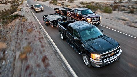 2012 chevrolet silverado 2500 ltz 4wd crew cab, 2012 ford f250 super duty king ranch 4x4 crew cab, 2012 ram 2500 laramie longhorn 4x4 mega cab