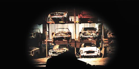 Motor vehicle, Automotive design, Automotive lighting, Headlamp, Darkness, Bumper, Hood, Grille, Midnight, Classic car,