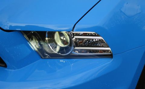 Blue, Automotive design, Automotive lighting, Automotive exterior, Hood, Headlamp, Car, Electric blue, Light, Bumper,