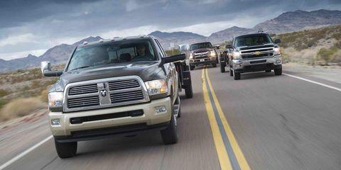 2012 ram 2500 laramie longhorn 4x4 mega cab, 2012 ford f250 super duty king ranch 4x4 crew cab, and 2012 chevrolet silverado 2500 ltz 4wd crew cab
