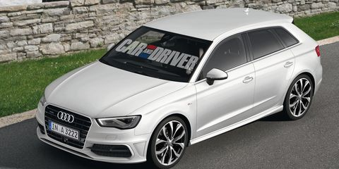 2017 Audi A3 Sportback Five Door Rendered
