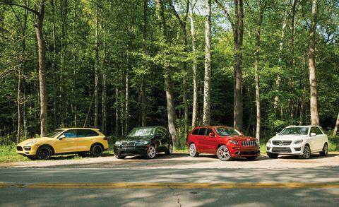 Hot-Rod SUV Comparison: 2012 BMW X5 M vs Three Others
