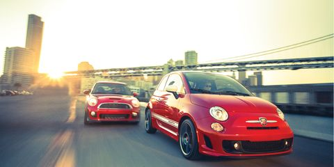 2012 Fiat 500 Abarth Vs Mini John Cooper Works