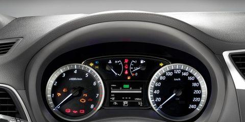 Mode of transport, Speedometer, Transport, Tachometer, White, Car, Red, Gauge, Trip computer, Carmine,