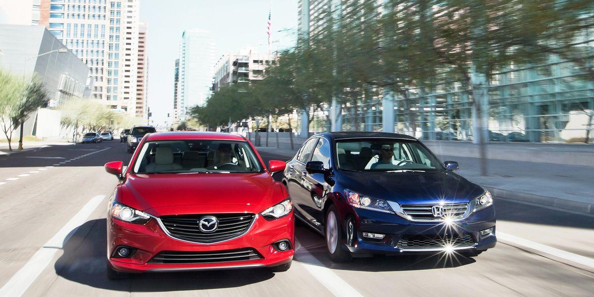 2014 Mazda 6 Grand Touring vs  2013 Honda Accord EX-L Comparison