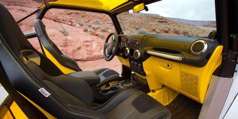 Motor vehicle, Mode of transport, Yellow, Steering part, Vehicle, Steering wheel, Automotive mirror, Automotive design, Car seat, Glass,