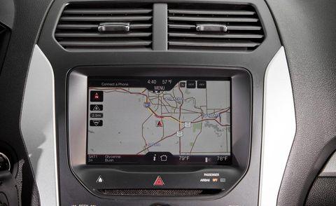 Motor vehicle, Electronic device, Display device, Gps navigation device, White, Technology, Electronics, Automotive navigation system, Center console, Luxury vehicle,