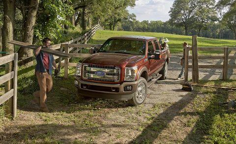 Plant, Vehicle, Land vehicle, Landscape, Pickup truck, Fender, Woody plant, Muscle, Bumper, Rural area,