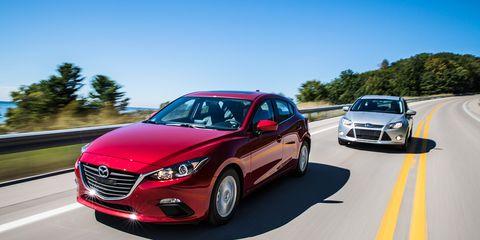 2014 Mazda 3 vs  2014 Ford Focus Comparison Test –