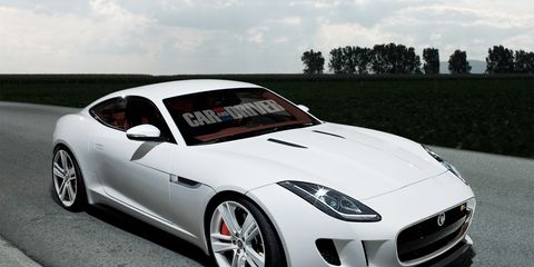 2015 Jaguar F-type Coupe Rendered and Detailed