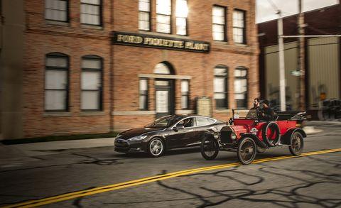 2013 Tesla Model S vs  1915 Ford Model T: Race of the Centuries