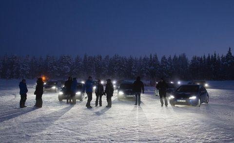 Winter, Freezing, Night, Snow, Evening, Midnight, Ice, Precipitation, Winter sport, Piste,