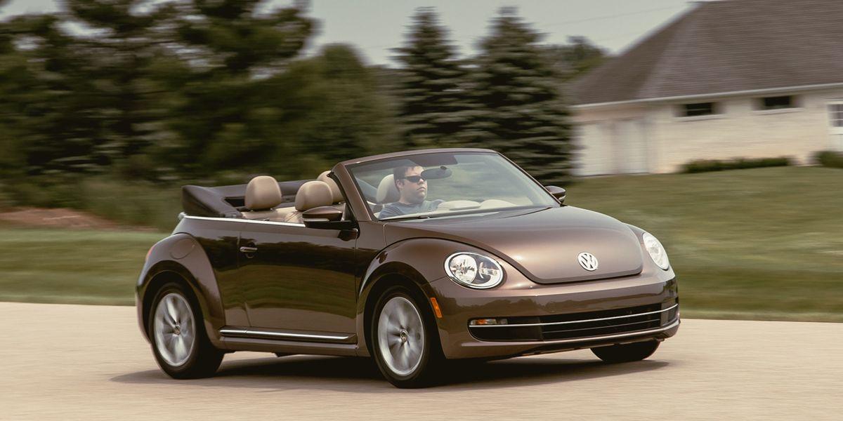 volkswagen beetle convertible tdi test review car  driver