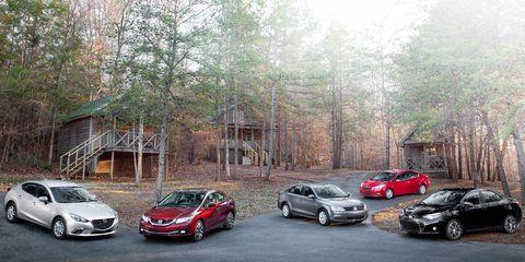 2014 Honda Civic EX-L vs  2014 Kia Forte EX, 2014 Mazda 3 i Touring