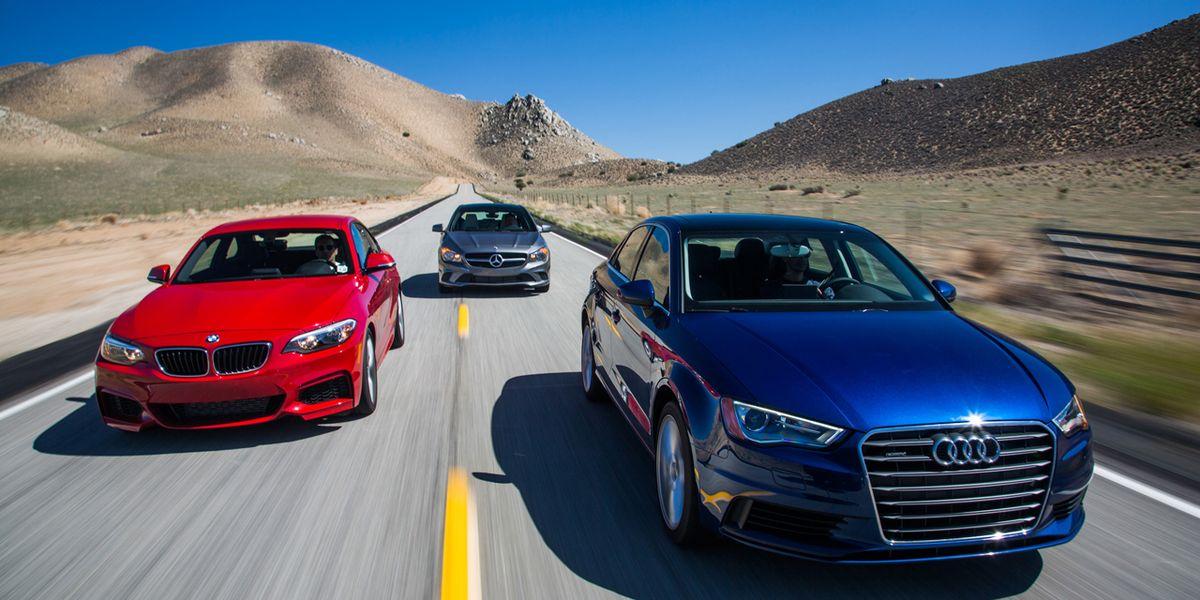 2015 Audi A3 vs. 2014 BMW 228i, Mercedes-Benz CLA