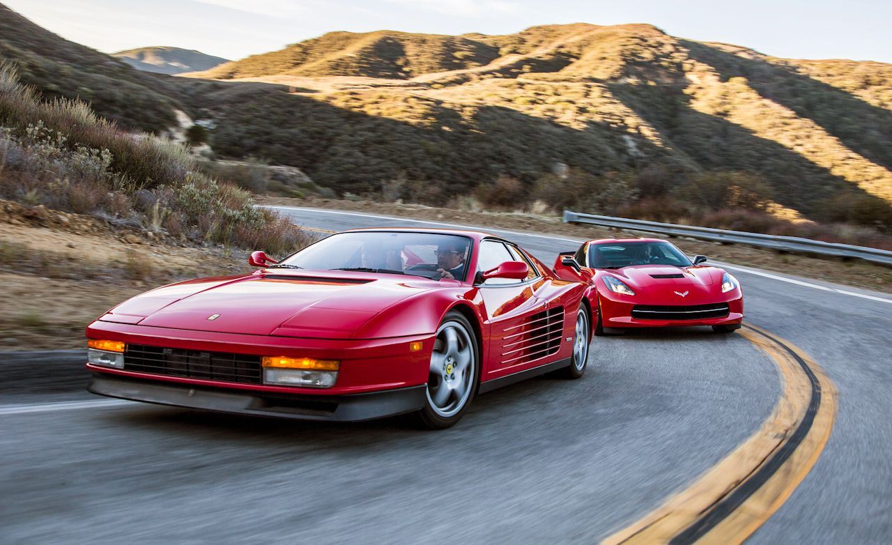 2014 Chevrolet Corvette Stingray Vs 1990 Ferrari Testarossa