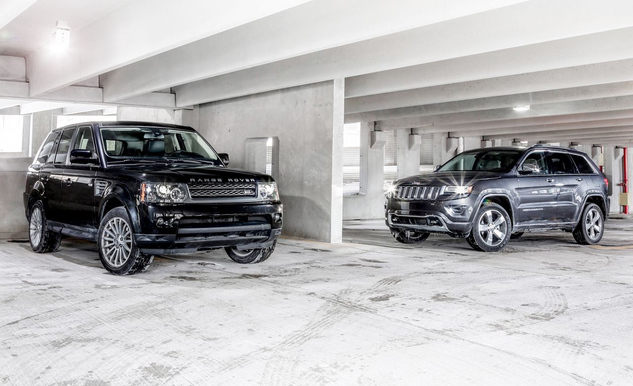 New Vs Old 2014 Jeep Grand Cherokee 4x4 Overland Vs 2010 Land Rover Range Rover Sport Hse 8211 Comparison Test 8211 Car And Driver