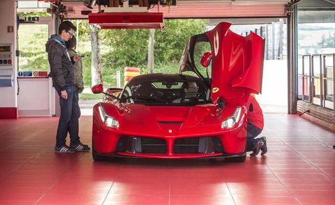 Automotive design, Vehicle, Performance car, Red, Supercar, Car, Floor, Fender, Hood, Sports car,