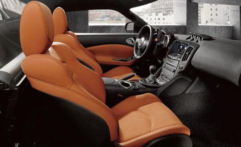 Motor vehicle, Mode of transport, Steering part, Automotive design, Steering wheel, Car seat, Car, Vehicle door, Center console, Orange,