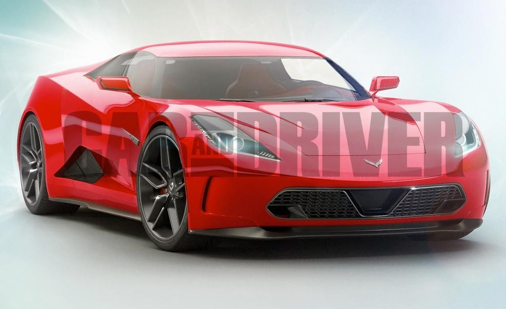 Chevrolet Corvette C8 (artist's rendering)