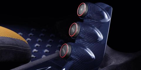 Logo, Carmine, Carbon, Steering part, Leather,