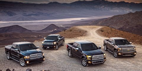 2015 Chevrolet Silverado vs  2015 Ford F-150, 2015 Ram 1500, 2014