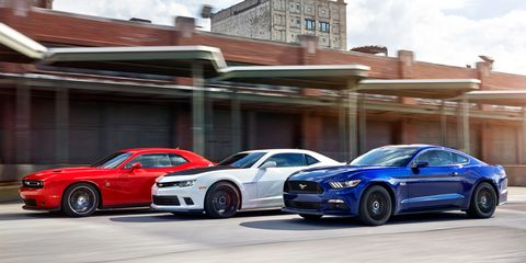 2015 Ford Mustang GT vs. Chevrolet Camaro SS 1LE, Dodge ...