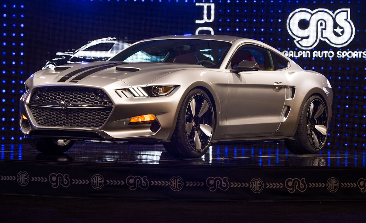 2015 ford mustang galpin rocket a 725 hp fisker designed showstopper