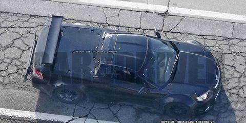 mid-engine C8 Corvette spy photo