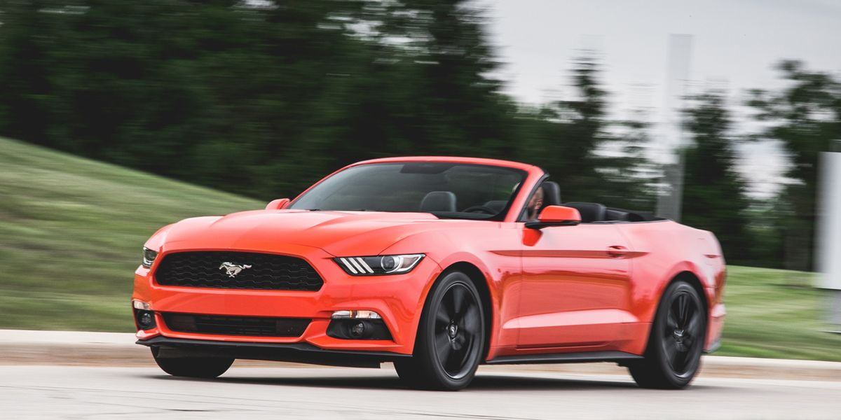 2015 ford mustang ecoboost convertible test review car and driver. Black Bedroom Furniture Sets. Home Design Ideas