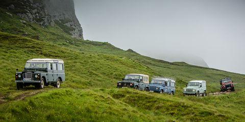 Motor vehicle, Vehicle, Land vehicle, Mountainous landforms, Highland, Automotive exterior, Hill, Terrain, Grassland, Hill station,