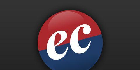 Carmine, Sign, Logo, Signage, Symbol, Circle, Electric blue, Graphics, Brand, Number,